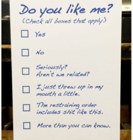 Do You Like Me Checklist Greeting Card