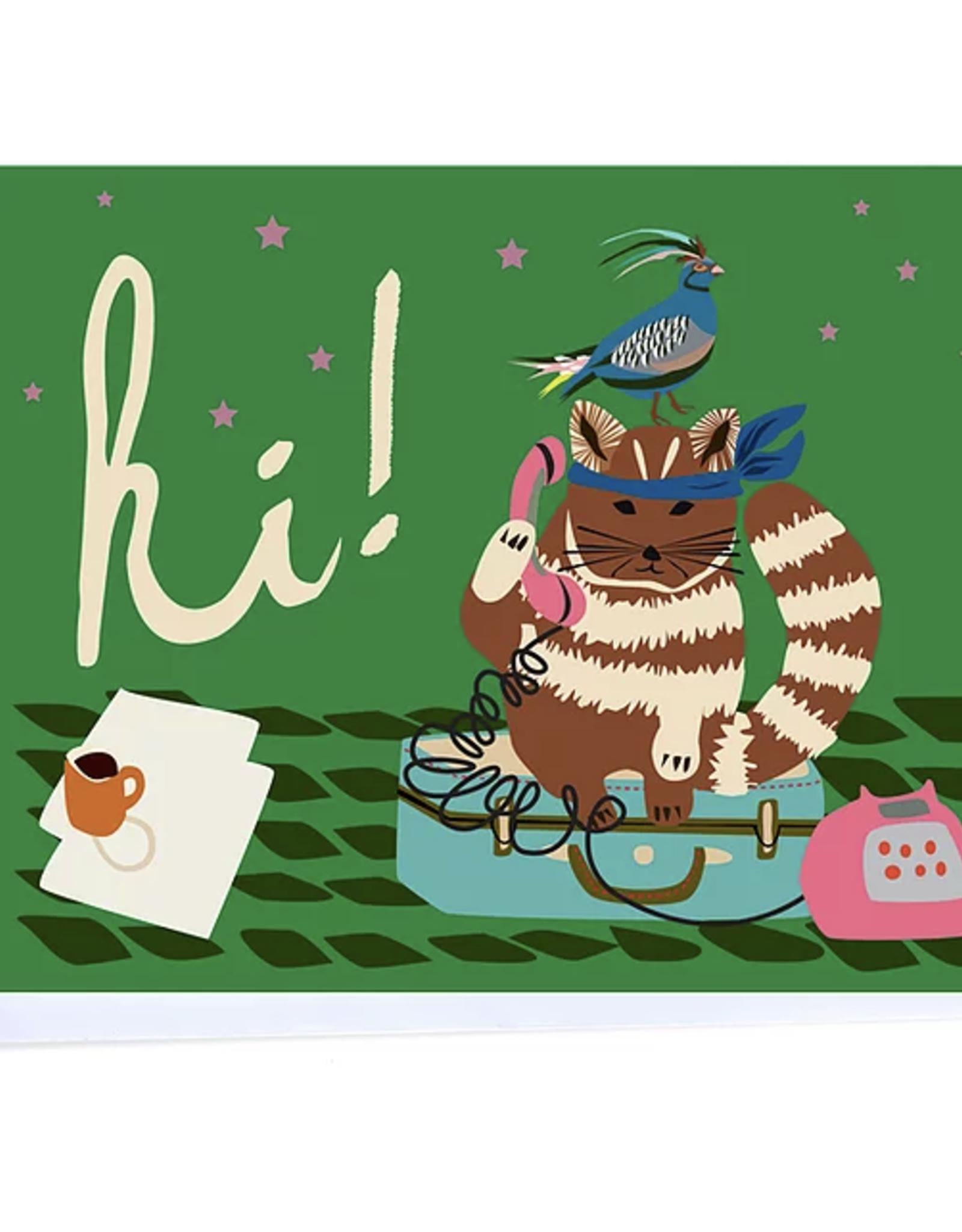 Hi (Samurai Cat) Greeting Card