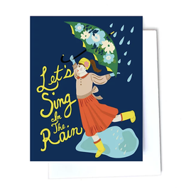 Let's Sing in the Rain Greeting Card