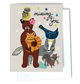 Missing You Animals Greeting Card
