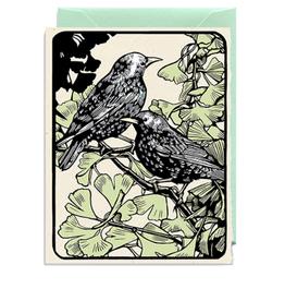 Starlings Greeting Card