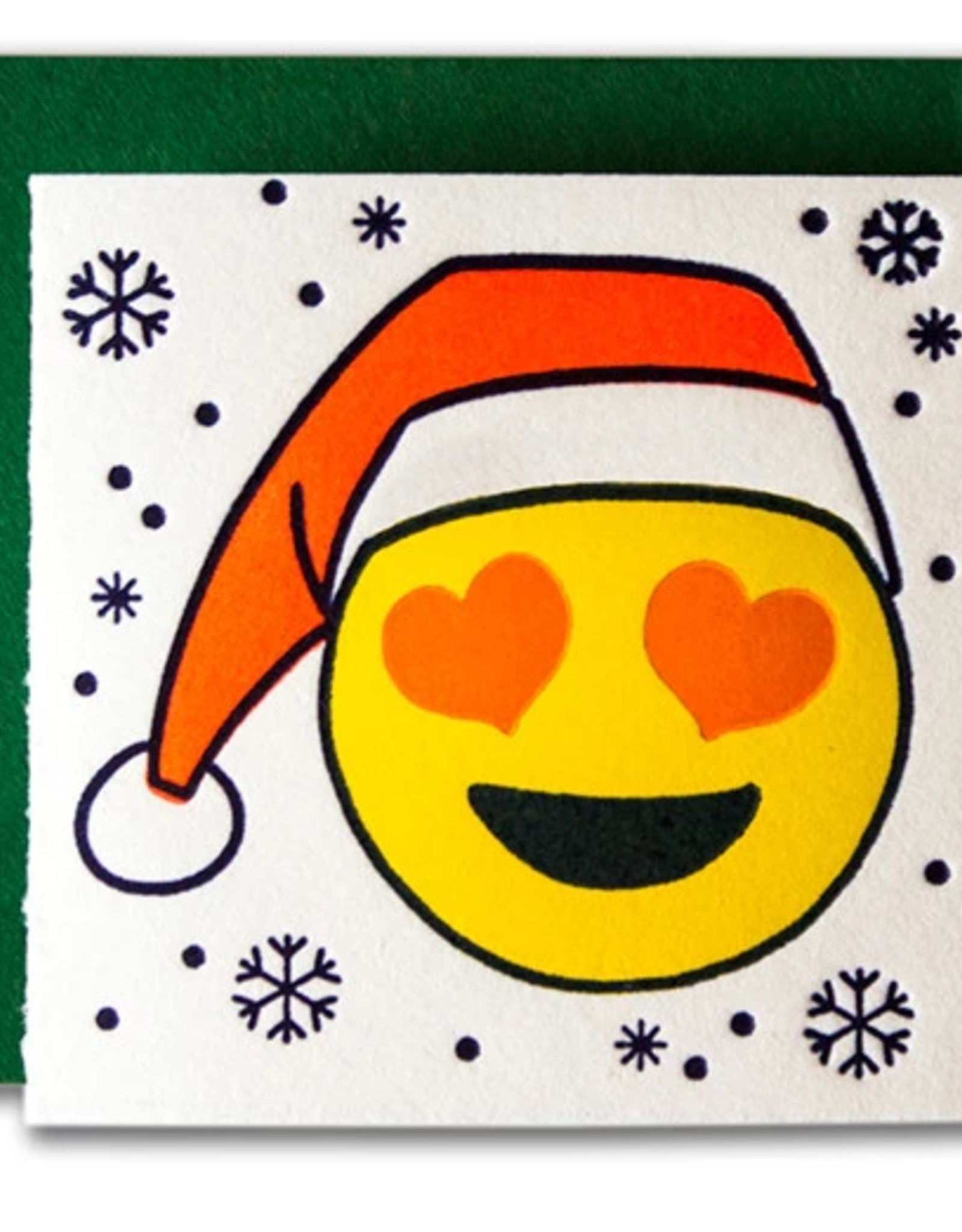 Santa Emoji Tiny Card