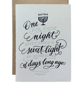 One For Each Night Greeting Card