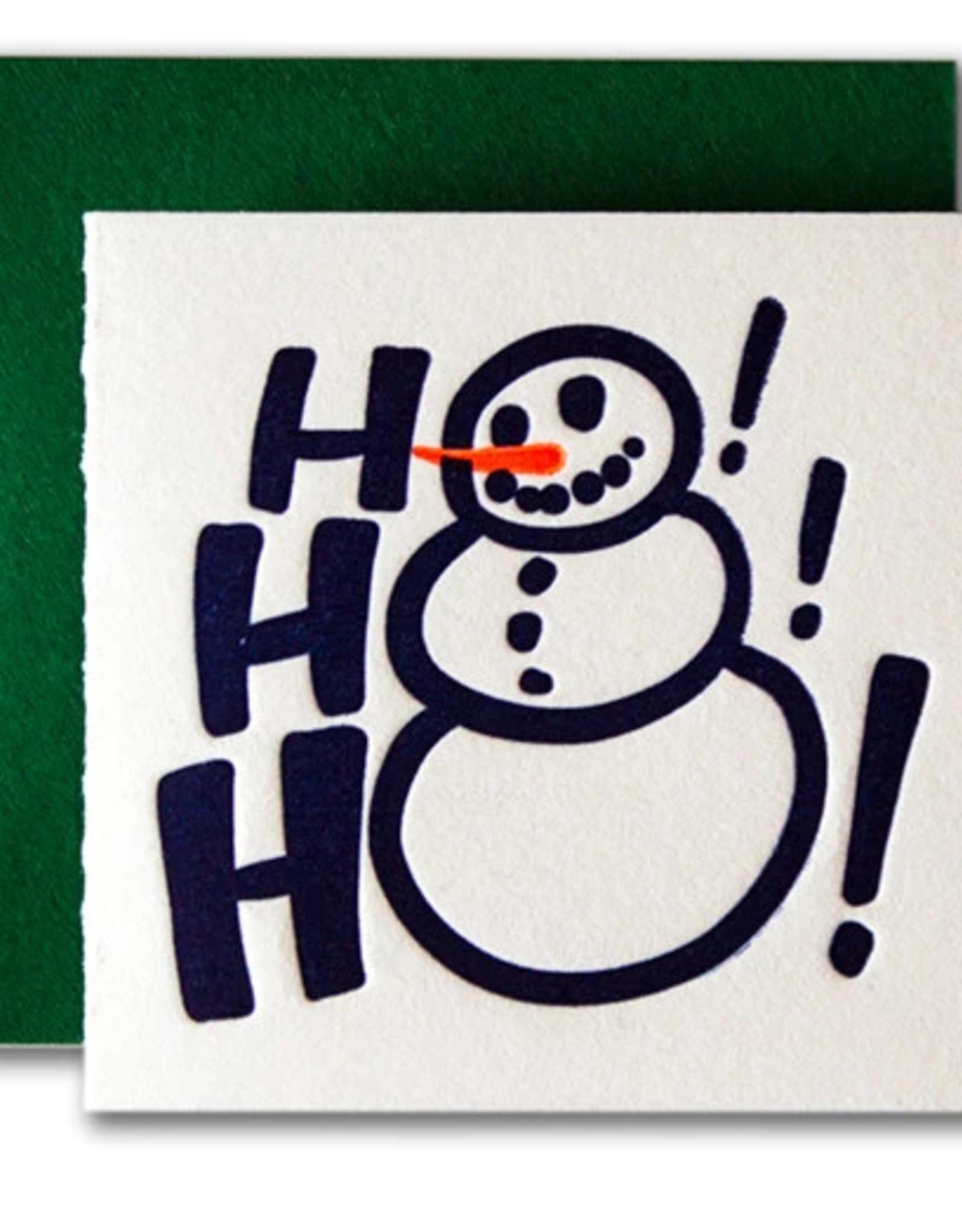 Ho Ho Ho Snowman Tiny Card