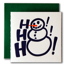Ho Ho Ho Snowman Tiny Card
