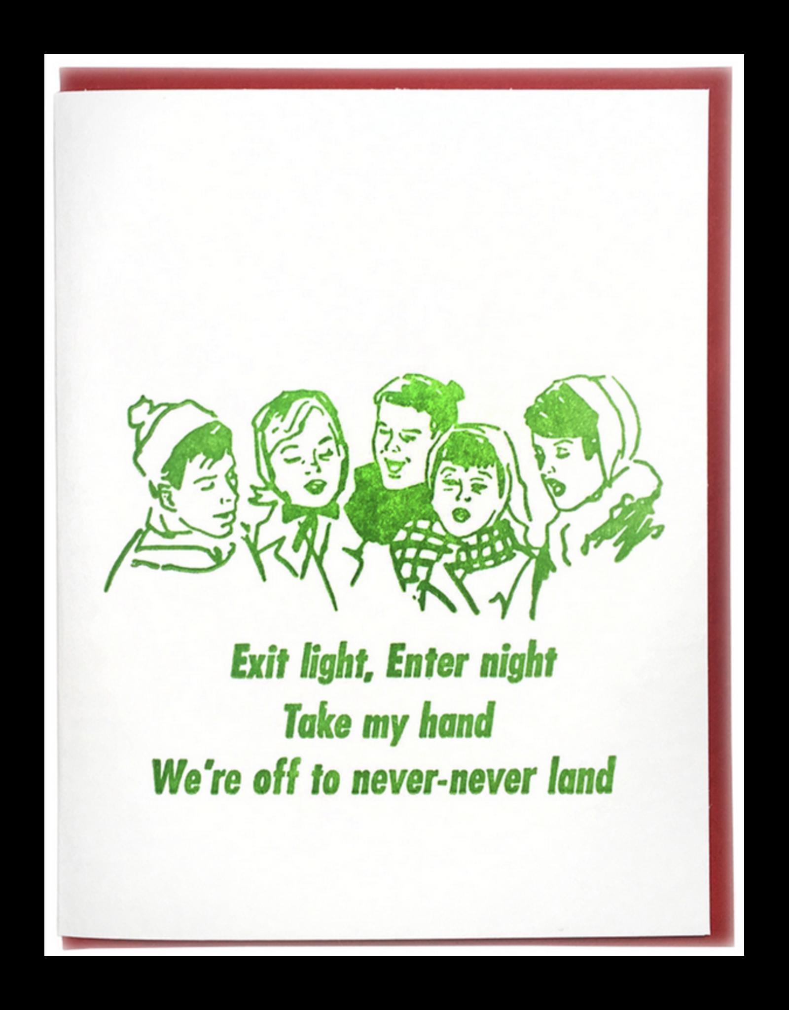 Never-Land Carolers Greeting Card