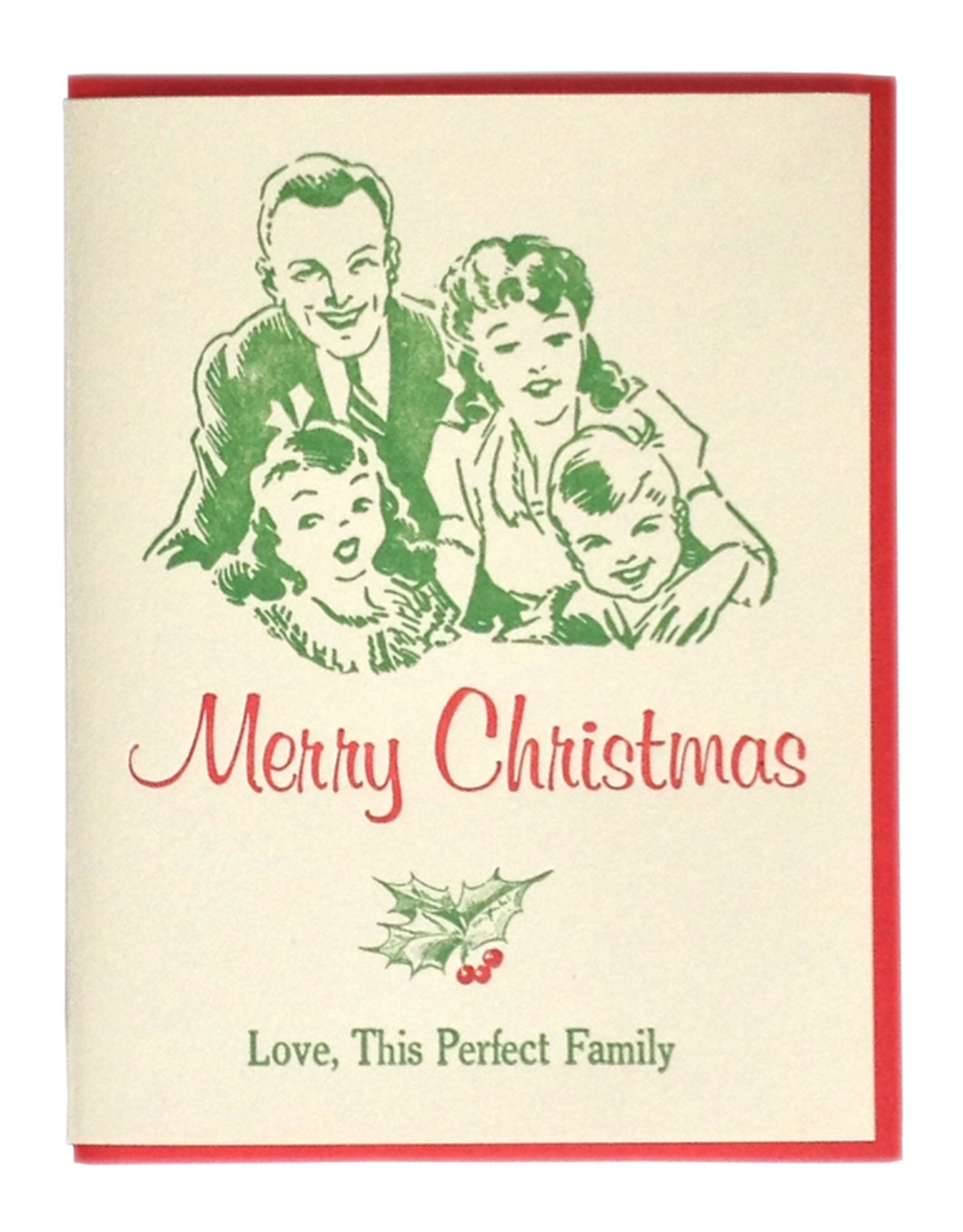 Perfect Family Christmas Greeting Card