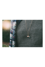 Bronze Narwhal Necklace with Brass Chain
