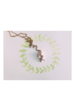Bronze Bear Necklace with Brass Chain