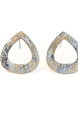 Tear Drop Painted Stud Earring
