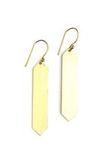 Obelisk Earring Brass