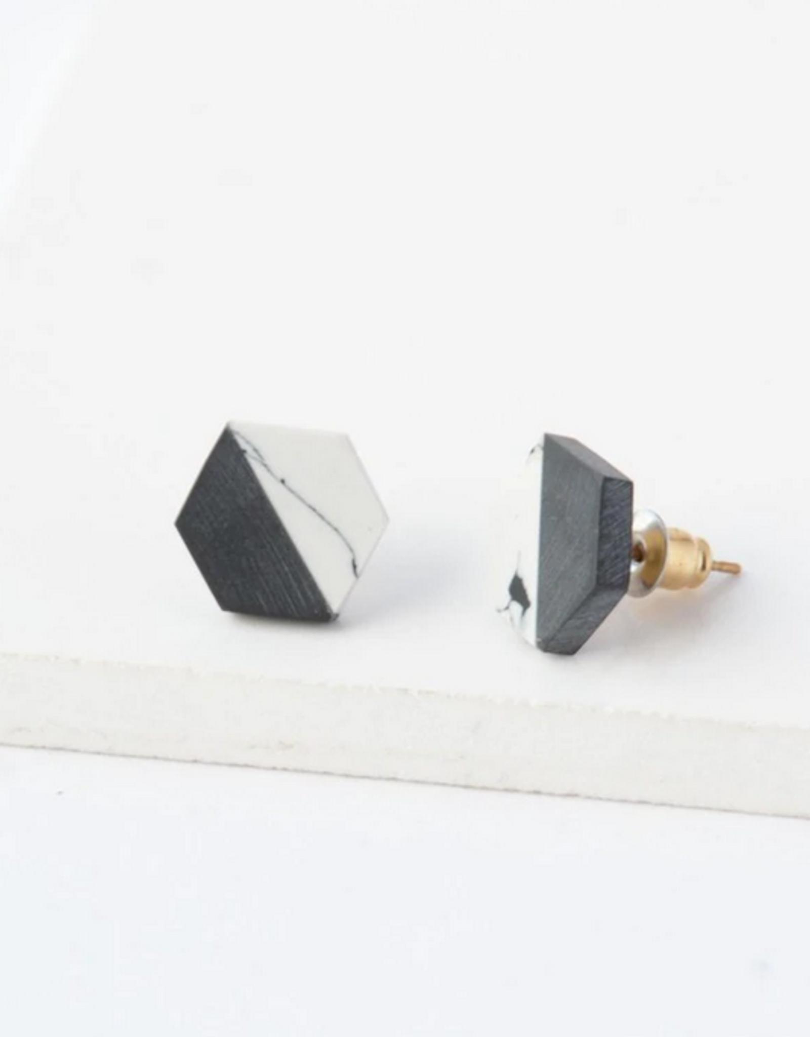 Balanced Geometry Stud Earring