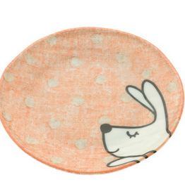 Pink Cottontails Rabbit Plate