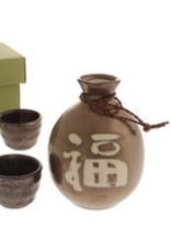 Bronze Fuku Good Luck Sake Set