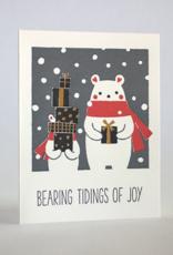 Bearing Magic Tidings of Joy Greeting Card