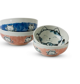 Fortune Cat Bowl Pink