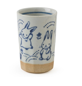 Blue Rabbits Ceramic Cup