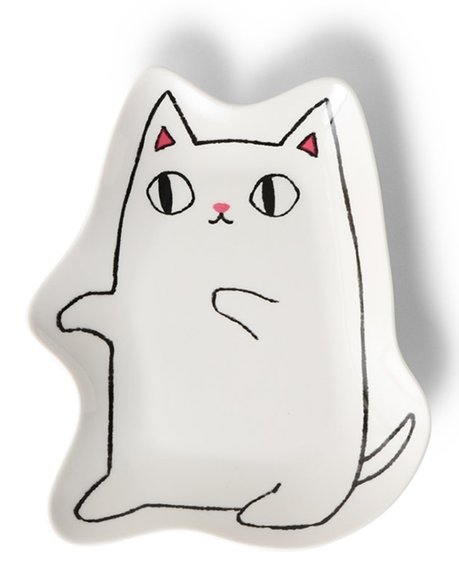 Plate Large Shiro (White Cat)