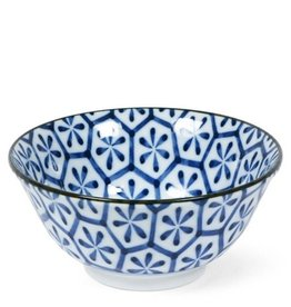 "Bowl 6"" Blue Don Hexagon"