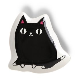 Plate Large Kuro (Black Cat)