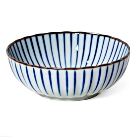 Tokusa Blue Stripes Bowl 7.25""