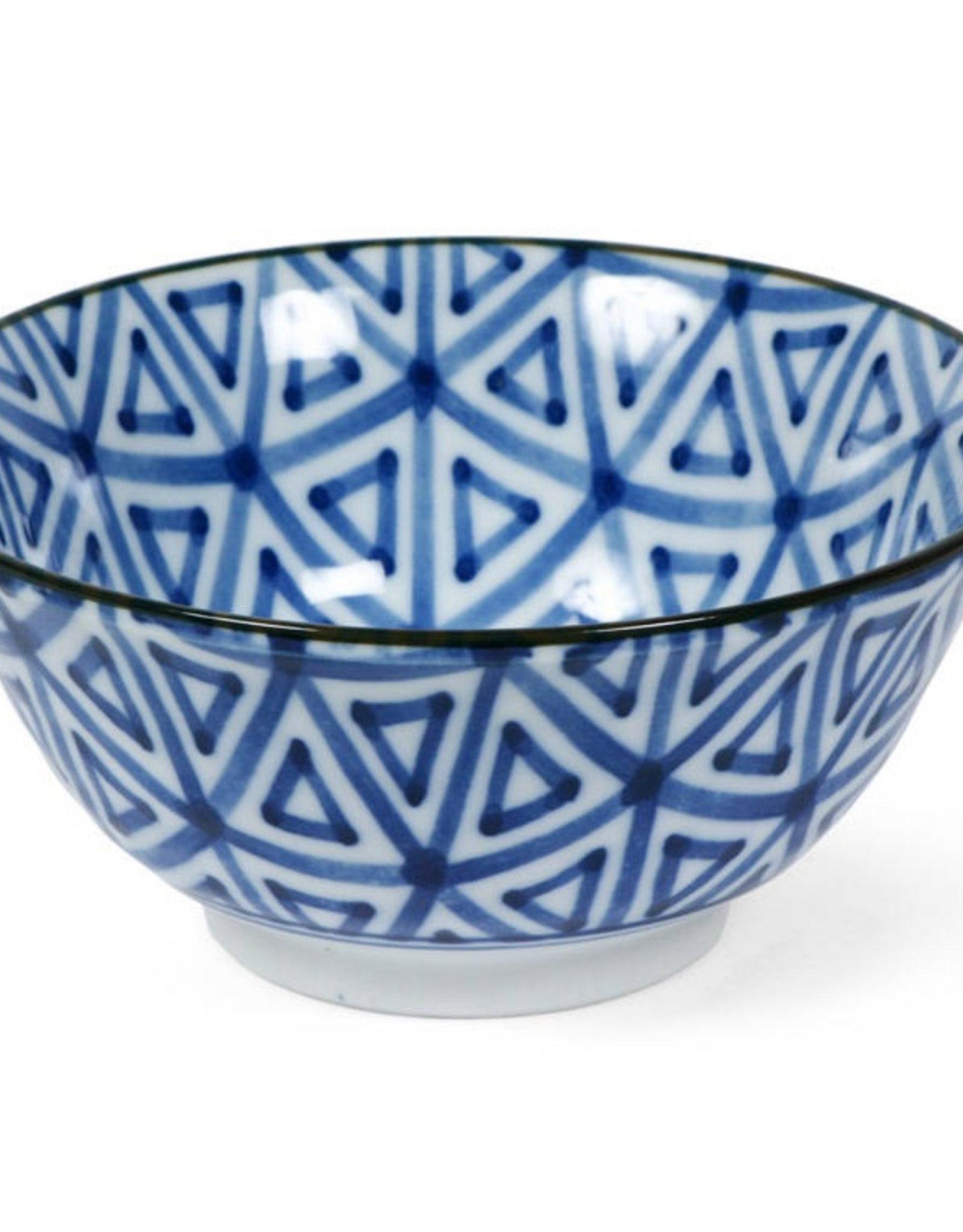 "Bowl 6"" Blue Don Triangle"