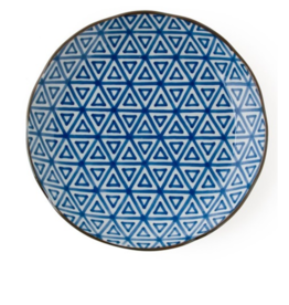 "Monyou 10"" Sankaku Plate (Triangles)"