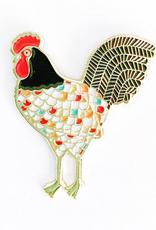Rooster Enamel Pin