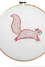 Bramble Squirrel Embroidery Sampler
