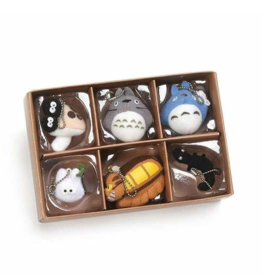 Totoro Collector Set of 6 Plush Keychains