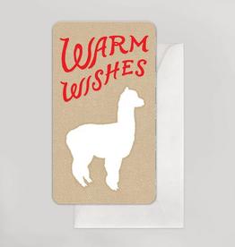 Warm Wishes Alpaca Mini Card