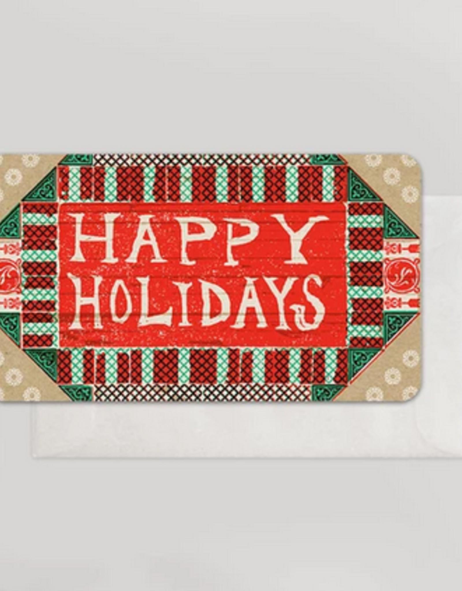 Happy Holidays Bedrock Mini Card