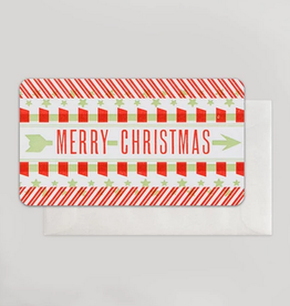Merry Christmas (Green & Red) Mini Card