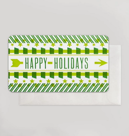 Happy Holidays Green Arrows Mini Card