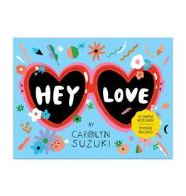 Hey Love Shaped Notecard Portfolio