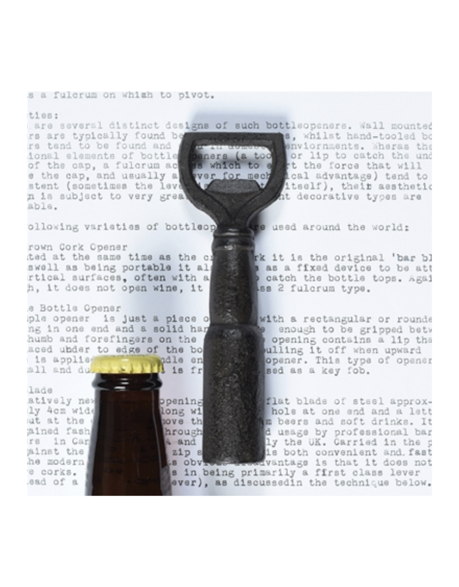 Brown Beer Bottle Bottle Opener