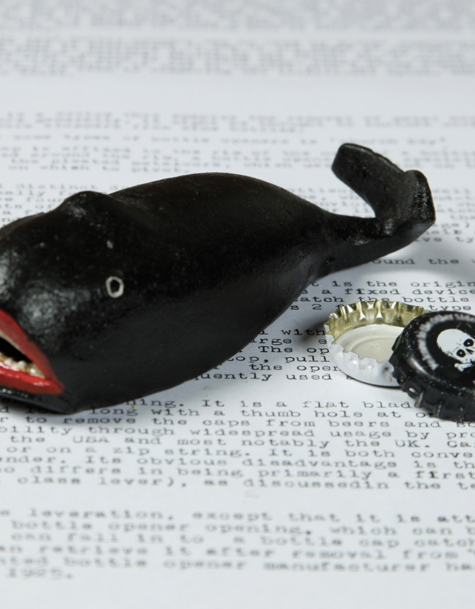 Cast Iron Whale Bottle Opener -