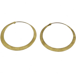 Hoop Brass Earrings, Large