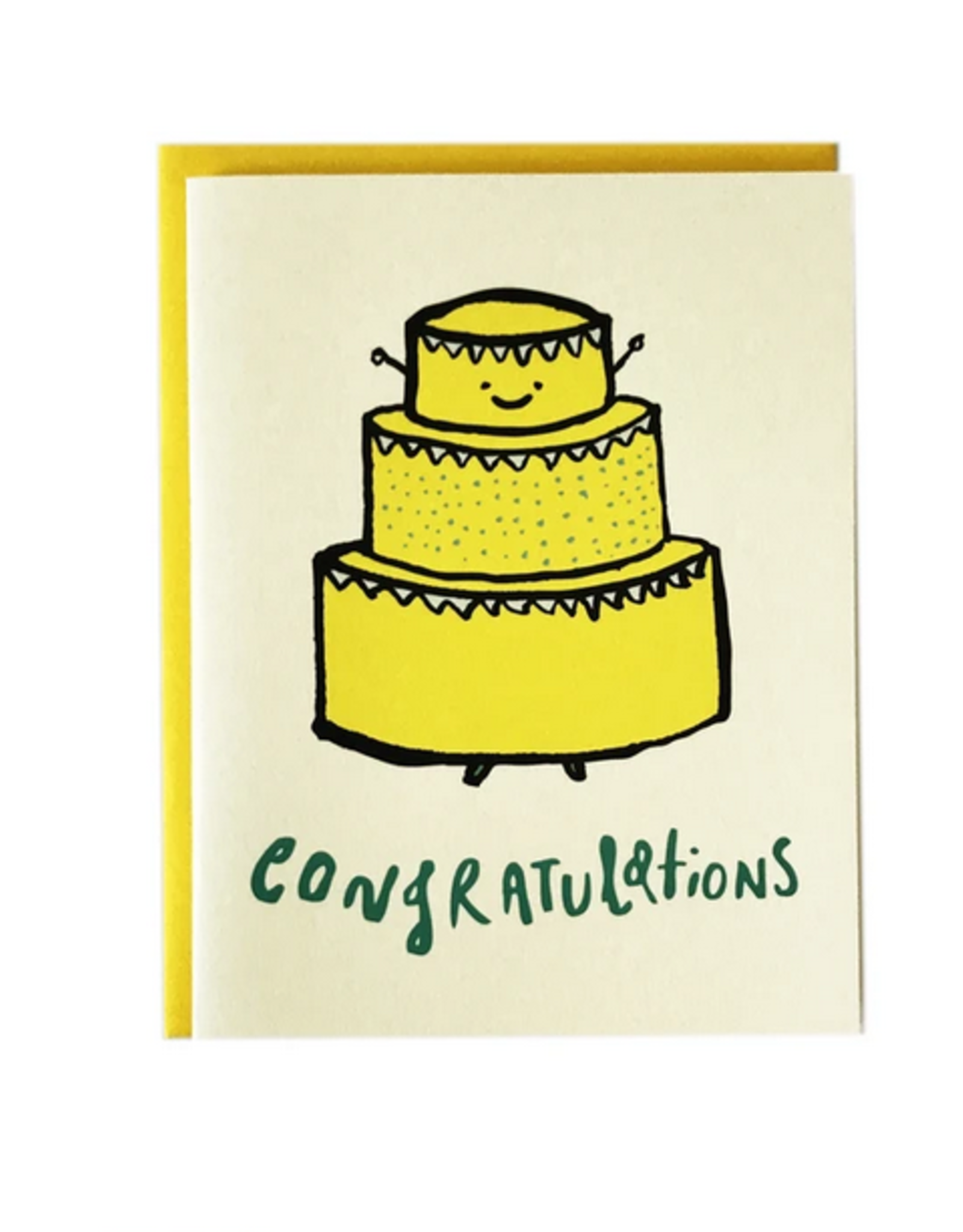 Congratulations (Happy Cake) Greeting Card