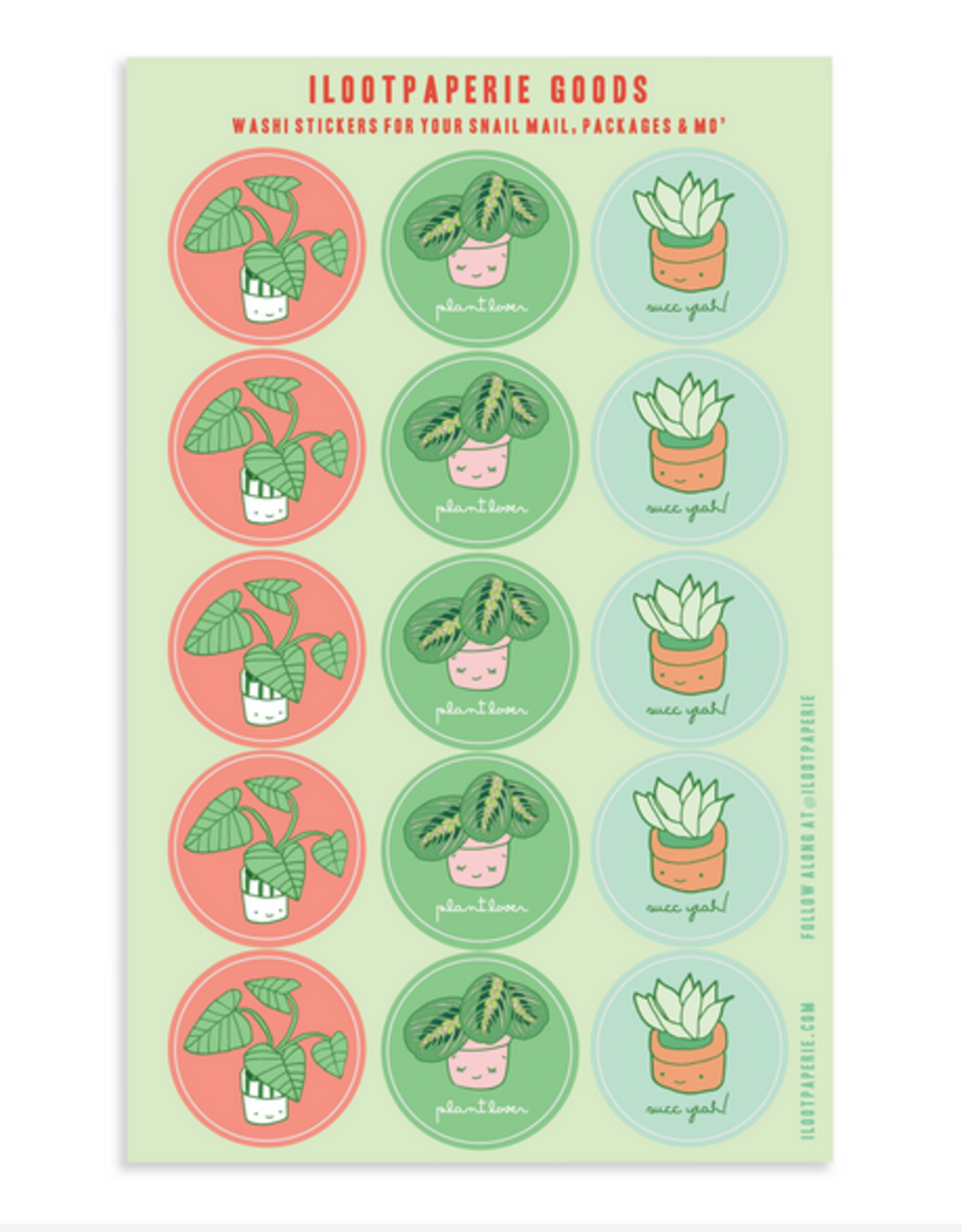 Plant Lover Sticker Sheet