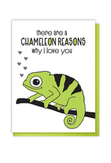Chameleon Reasons Why I Love You Greeting Card