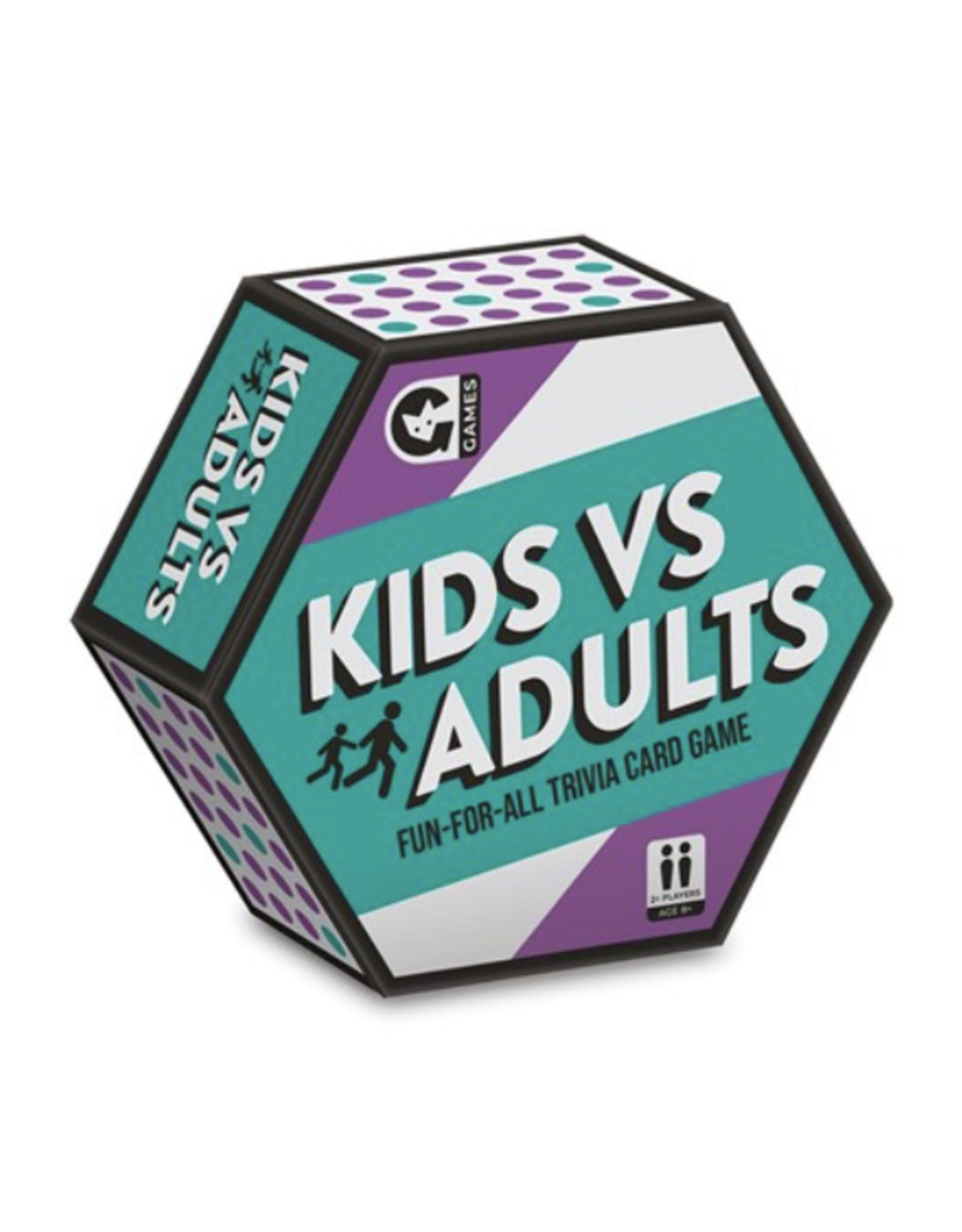 Kids vs Adults Card Game