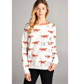 Fox Print Sweatshirt