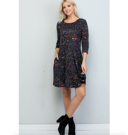 Science Lab Print Tunic Dress