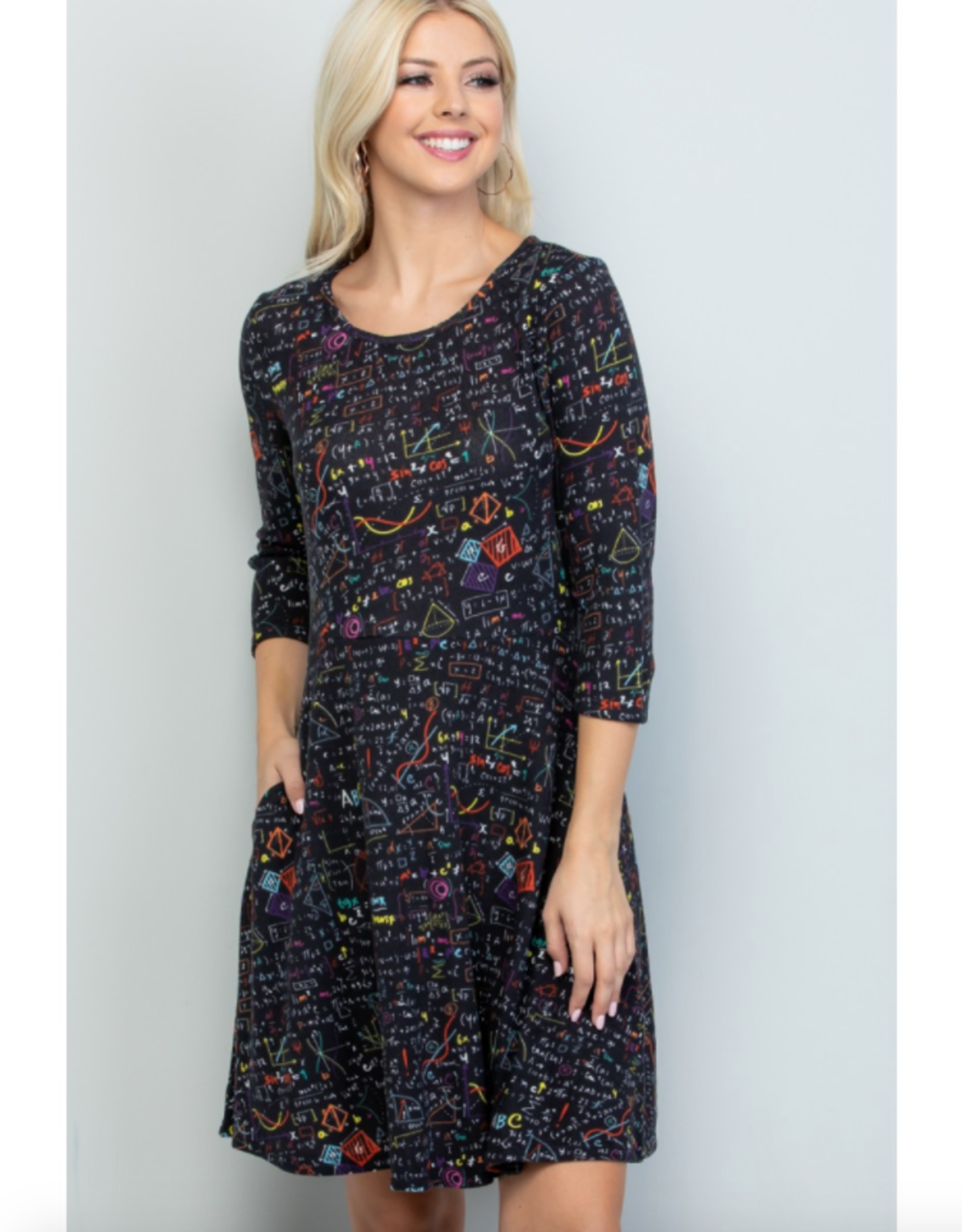 Science Lab Print Tunic Dress