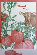 Thank You (Tomato) Greeting Card