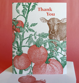 Thank You (Tomato) Greeting Card