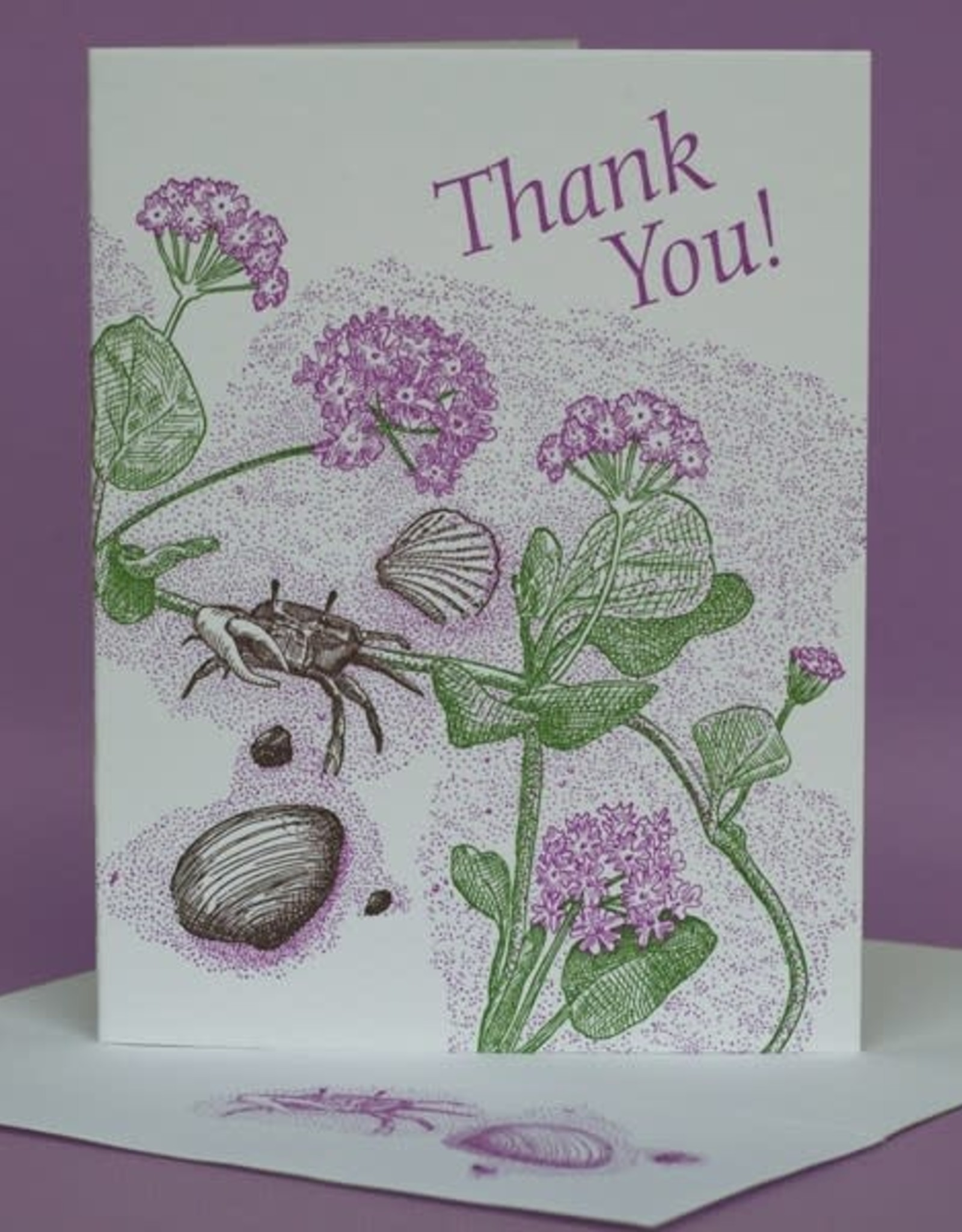 Thank You Crab (Sand Verbena) Greeting Card