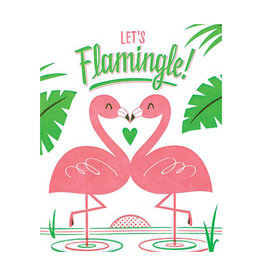 Let's Flamingle! Greeting Card