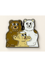 Pizzly Bear Enamel Pin